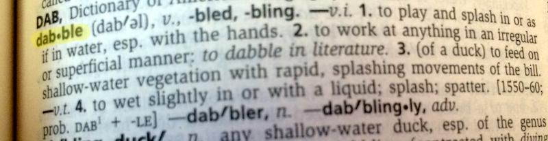 Dabble definition