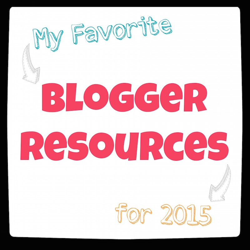 Blogger Resources 2015